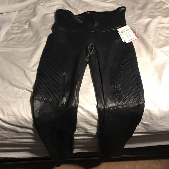 29d80333a9a24f SPANX Pants | Faux Leather Moto Leggings Never Been Worn | Poshmark